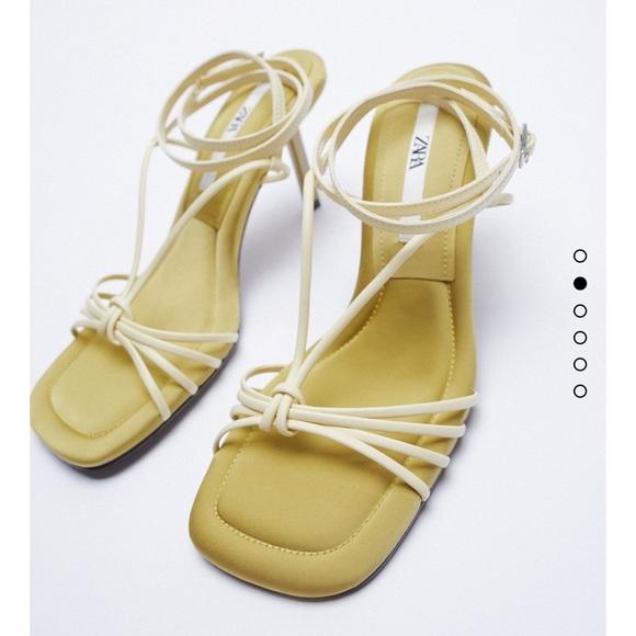 Zara strappy sandal 6